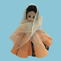 "1965 8"" Madame Alexander International Doll from Crete"