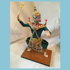 1980s Thai Thotsakan Khon Dancing God Ramakaian Doll