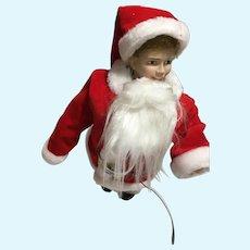 1990 Norman Rockwell 'Scotty Plays Santa' Porcelain Doll