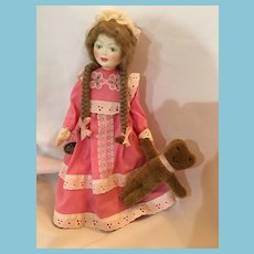 1981 Peggy Nisbet 'Tuesday's Girl' Victorian Birthday Doll by Royal Doulton