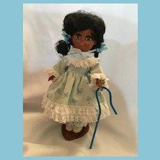 "Rare Circa 1960s-70s 10 1/2"" African American 'Little Bo Peep' #900 by A. Gambina Doll"