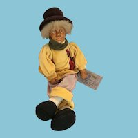 Early 1990s Kasma Collections Hand Made Collectors Traveling Troubadour Doll