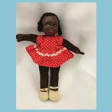 "Rare Circa 1960s 7"" Hygienic Chad Valley Black Velvetine Doll"