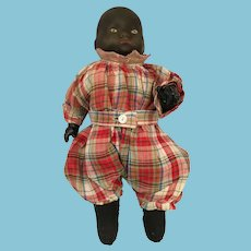 """Rare 12"""" Porcelain Head Unmarked Black Bye-lo Baby Doll"""