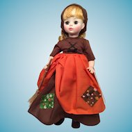 M-I-B Vintage Madam Alexander 'Poor Cinderella' Brown Dress
