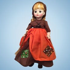 M-I-B Vintage Madam Alexander 'Poor Cinderella' Brown Dress