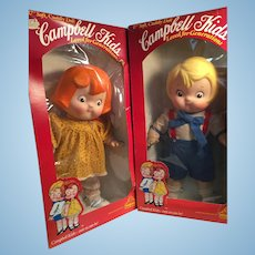Pair of Chubby Cheeked Campbell Kids In Boxes