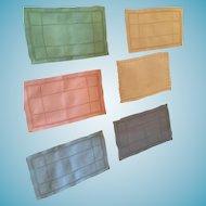 "Circa 40s Group of Six 8"" x 5"" Handkerchiefs or Finger Napkins"