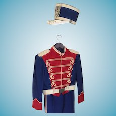 Vintage Drum Major Two Piece Suit and Shako  by Ostwald Uniforms