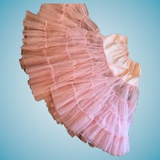 Fabulous Circa 1950's Pink Multi-Layered Organdy Crinoline
