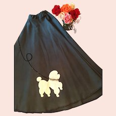 Circa 1950's  Blue Circle Poodle Skirt.