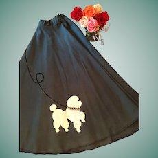 Circa 1950's  Blue Circle Poodle Skirt.