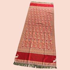 "Fabulous Abu Gazola  88"" x 36"" Bohemian Shawl/ Tapestry."