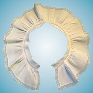 1940's - 50s White Cotton Ruffle Collar with Lace Trim