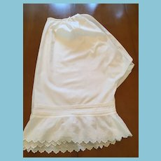 Circa 1880 to 1900  Pair of Cotton Crotchless Bloomers