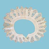1930s - 40's White OOAK Hand-Crocheted Collar