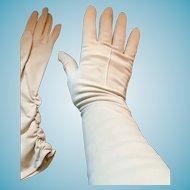 1950s Soft Beige Nylon Western Germany 'Wear-Right Gloves'