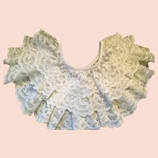 1930s - 40's Three Layer White Lace Circular Collar