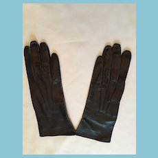 1950s- 60s Fownes Black Kid Leather Gloves