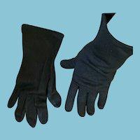 1950s- 60s Wrist Length Max Mayer's Size 7 1/2 Black Gloves