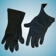 1950s- 60s Wrist Length Max Mayer's Size 7 1/2 Black Gloves