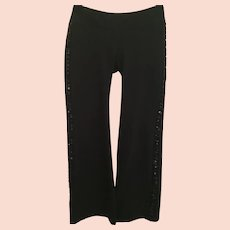 Black Sequined Bebe Medium Tuxedo Sport Pants