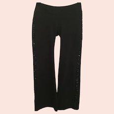 Black Sequined Bebe Medium Tuxedo Sport Pants