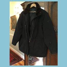 1990s Black Down Jacket by Ralph Lauren