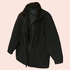 1990s Black Down Jacket by Ralph Lauren