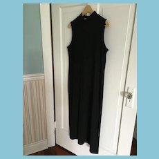 Circa 1990s Black Mock Turtleneck Spandex Liz Claibourne Maxi-Dress