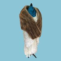 Circa 1940s-50s Palamino Mironoff Furs Canadian Majestic Label Mink Stole