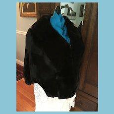 Circa 50s Black Sheared Beaver Stole from C. Jorgensen Furs, Pasadena