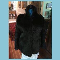 Circa 80s Sassy Black Faux Fur Jacket