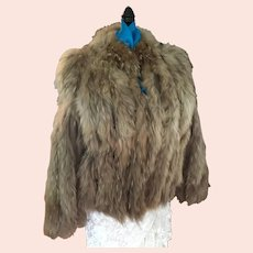 Circa 70s BOHO Coyote Fur and Leather Jacket 'Made in Canada'