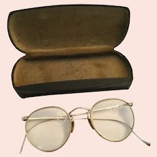 Circa 1920s 'Grannie Glasses' with Clamshell Case