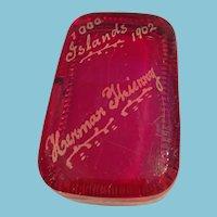 1902 Rectangular Souvenir 1000 Islands Paper Weight