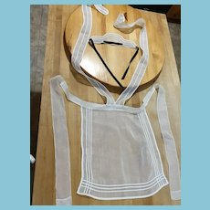 1920s 'French Maid' Pinafore Apron and Cap