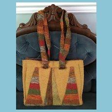 1960s - 70s Bohemian 'Au-Terroir' Hand-Loomed Handbag