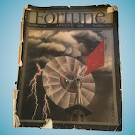 August 1939 Fortune Magazine with Original Advertising