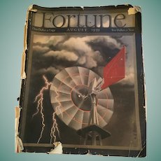 August 1939 Fortune Magazine with Original Advertising