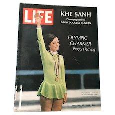 February 23, 1968 Life Magazine - Peggy Fleming, Khe Sanh