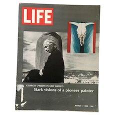 March 1, 1968 Life Magazine: Georgia O'Keeffe