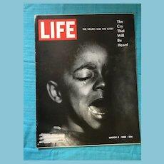 March 8, 1968 Life Magazine: Negros, Harlem, Ghettos