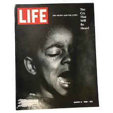 March 8, 1968 Life Magazine: Negros, Harlem, Ghettos