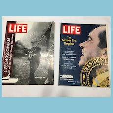 Two 1968 LIFE Magazines:Czechoslovakia, Nixon Era Begins