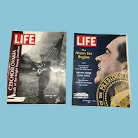 Two 1968 LIFE Magazines:Czechoslovakia, Nixon Era Begins
