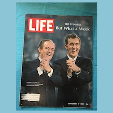 September 6, 1968 Life Magazine: Humphry and Muskie