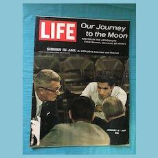 January 17, 1969 Life Magazine: Moon Journey , Sirhan in Jail