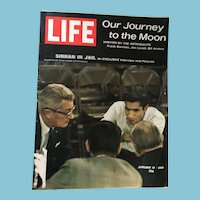 January 17, 1969 Life Magazine: Moon Journey , Sirhan in Jail