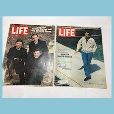 1969 Two Life Magazines: Nixon, Ghana, Movie Stars